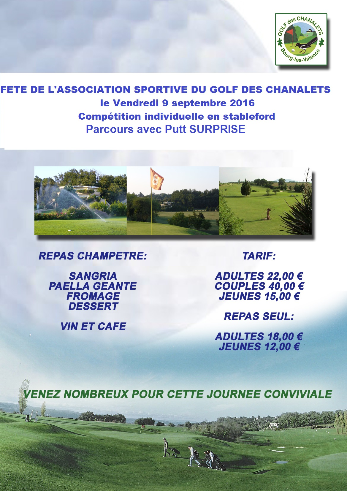 Golf Des Chanalets  Bourg Les Valence  26 Dr U00f4me