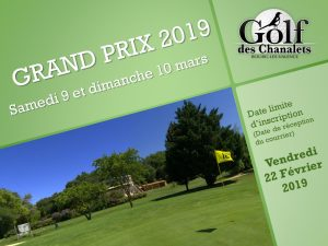 Grand Prize av Chanalets 9 och 10 Mars 2019 @ Golf Chanalets